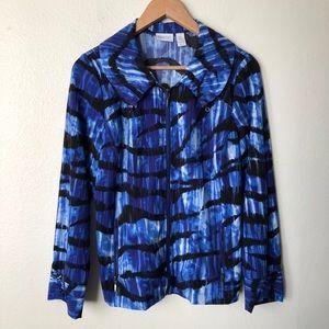 Zenergy Chico's Lightweight Blue Zip Front Jacket